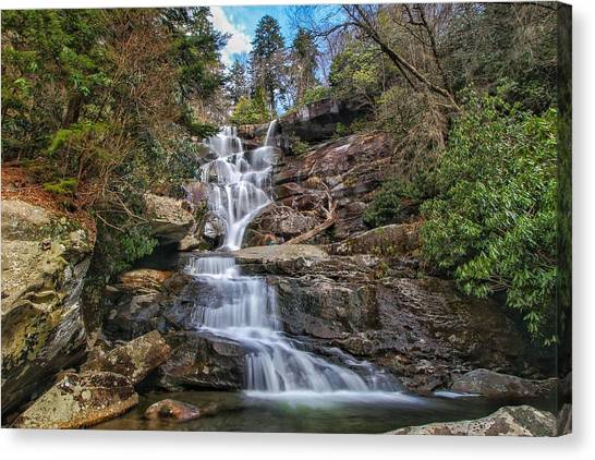 Ramsey Cascades - Tennessee Waterfall Canvas Print