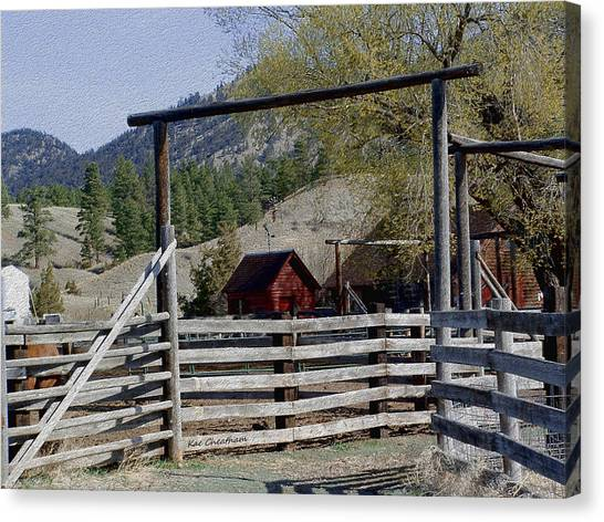 Ranch Fencing And Tool Shed Canvas Print