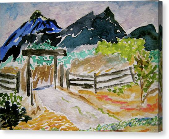 Ranch Outside Salida Canvas Print