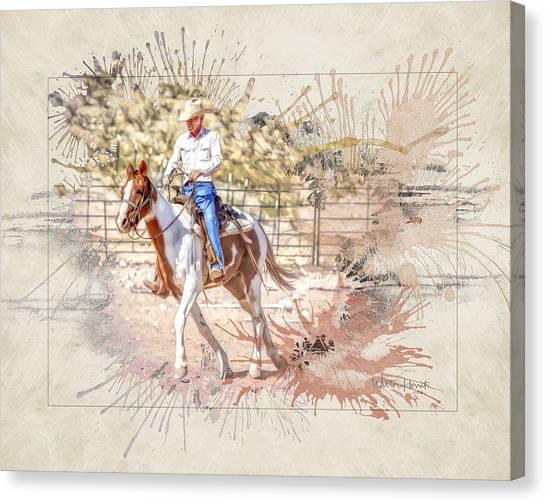 Ranch Rider Digital Art-b1 Canvas Print