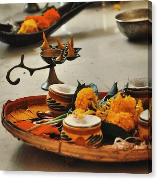 Hinduism Canvas Print - Random Puja Shot From I Have No Idea by Senjuti Kundu