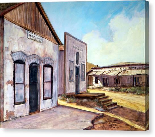 Randsburg California Canvas Print by Evelyne Boynton Grierson