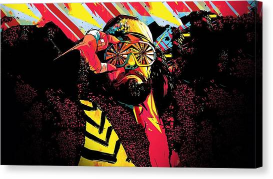 Randy Savage Canvas Print - Randy 'macho Man' Savage by Emma Brown