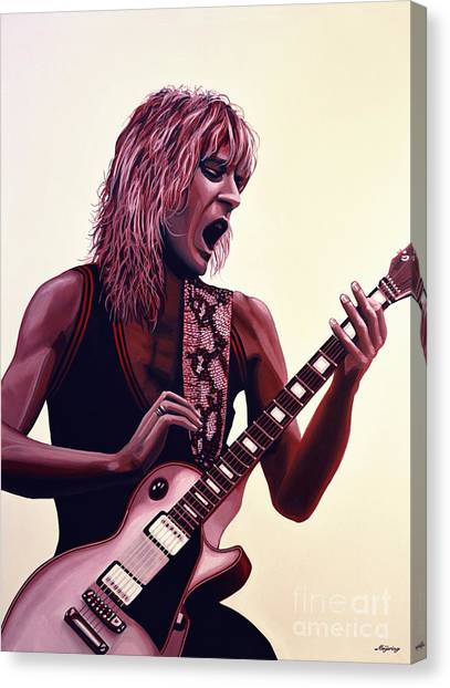 Electric Guitars Canvas Print - Randy Rhoads by Paul Meijering