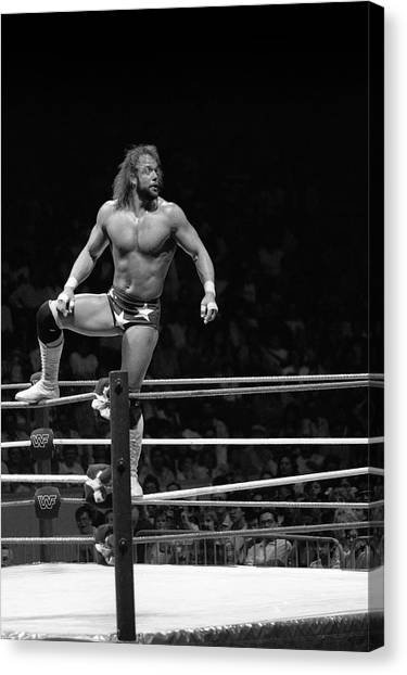 Wwe Canvas Print - Randy Savage by Bill Cubitt