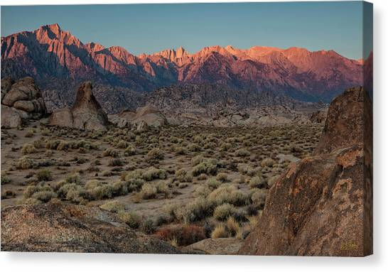 Canvas Print featuring the photograph Range Of Light II by Stuart Gordon