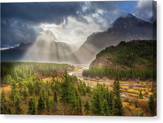 Range Of Light // Many Glacier Valley, Glacier National Park  Canvas Print