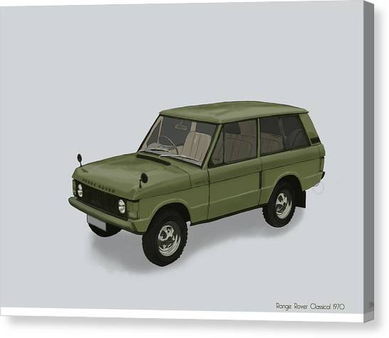 Canvas Print featuring the mixed media Range Rover Classical 1970 by TortureLord Art