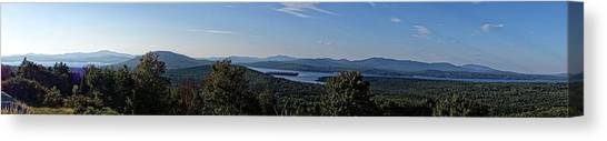 Rangeley Lake Sunset Panoramic Canvas Print
