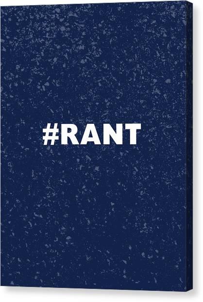 Social Canvas Print - Rant Journal- Art By Linda Woods by Linda Woods