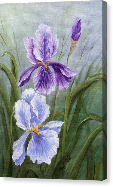 Rapsody Iris Canvas Print by Marveta Foutch