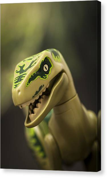Jurassic Park Canvas Print - Raptor On The Hunt by Samuel Whitton