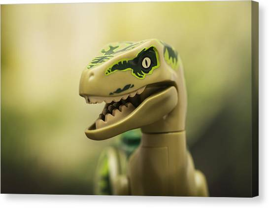 Jurassic Park Canvas Print - Raptor On The Prowl by Samuel Whitton