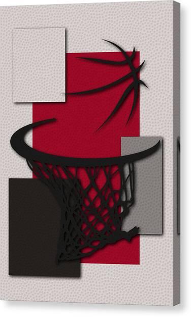 Toronto Raptors Canvas Print - Raptors Hoop by Joe Hamilton