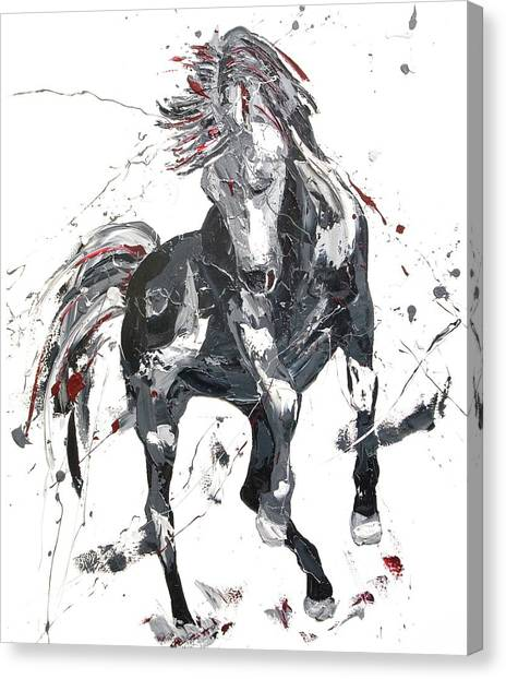 Abstract Horse Canvas Print - Rapture by Penny Warden