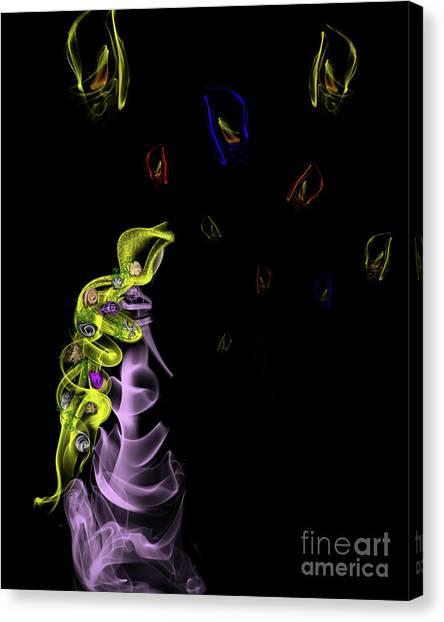 Rapunzel's Magic Flower Braid Canvas Print