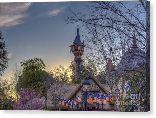 Rapunzel's Tower At Sunset Canvas Print