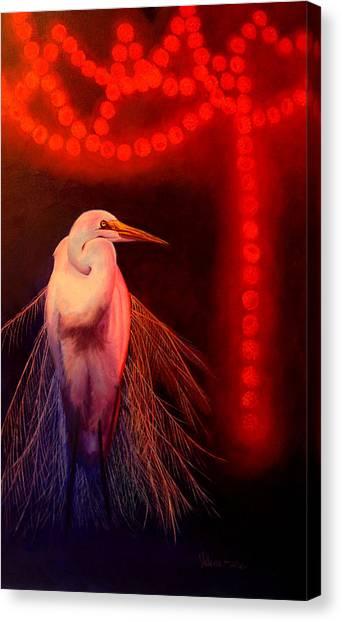 Rasberry Glow Canvas Print by Valerie Aune