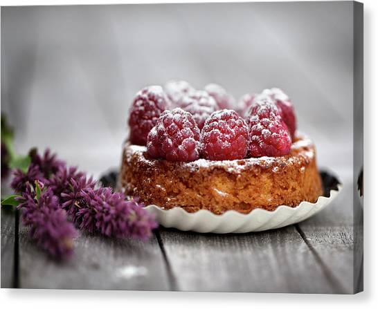 Cakes Canvas Print - Raspberry Tarte by Nailia Schwarz
