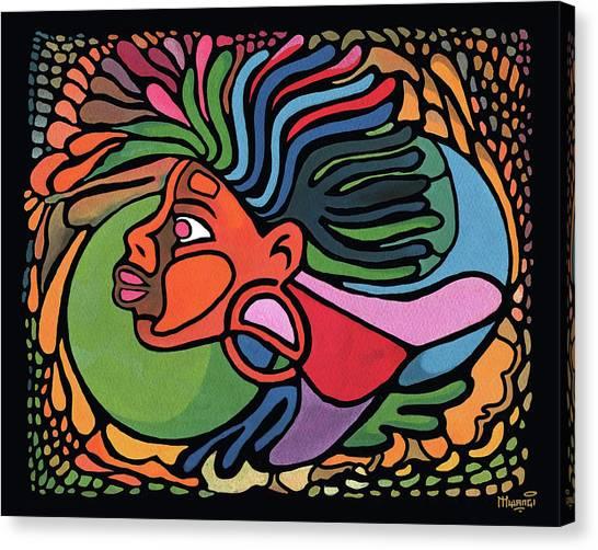 Rasta Queen Canvas Print