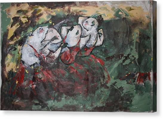 Rat Dancers Canvas Print by Danielle Wilbert