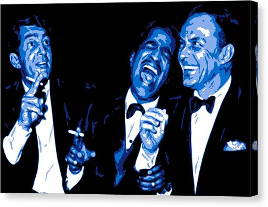 Hollywood Canvas Print - Rat Pack At Carnegie Hall by DB Artist