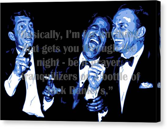 Frank Sinatra Canvas Print - Rat Pack At Carnegie Hall With Quote by DB Artist