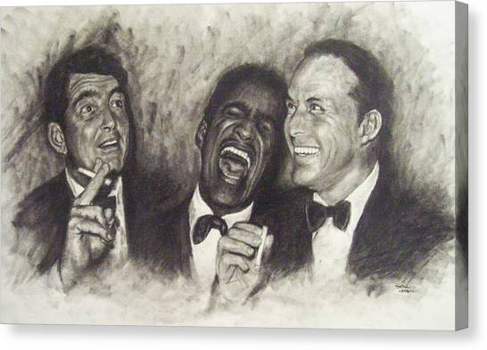Frank Sinatra Canvas Print - Rat Pack by Cynthia Campbell