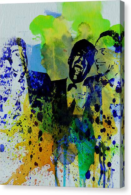 Bands Canvas Print - Rat Pack by Naxart Studio
