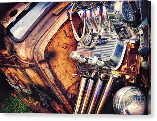 Street Rods Canvas Print - Rat Power by Tim Gainey