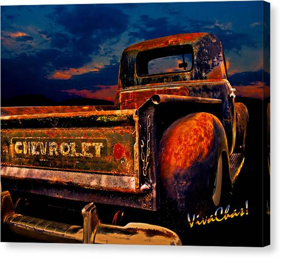 Rat Rod Chevy Truck Canvas Print