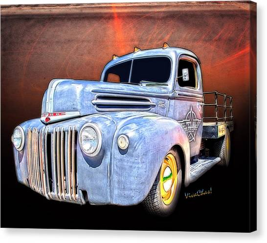 Rat Rod Flatbed Truck Texana Canvas Print