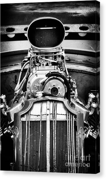 Street Rods Canvas Print - Rat Rod Power by Tim Gainey