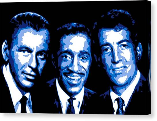 Hollywood Canvas Print - Ratpack by DB Artist