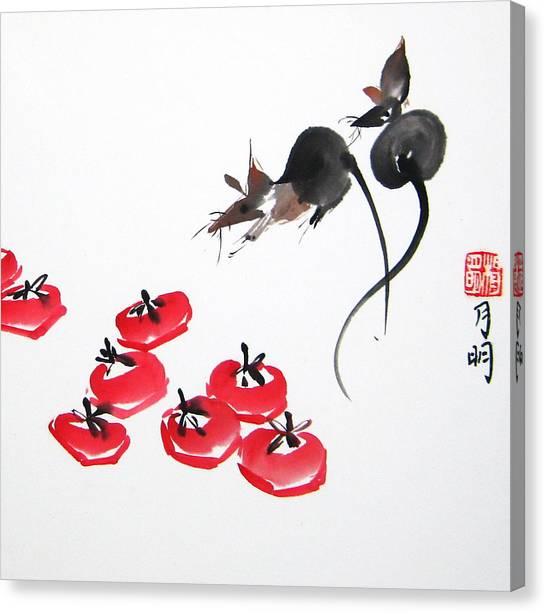 Rats In Raid Canvas Print by Ming Yeung