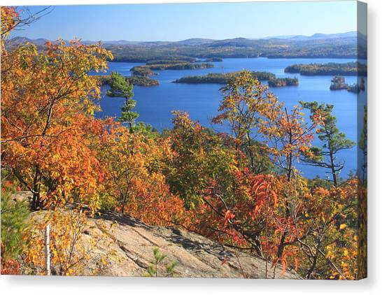 Rattlesnake Cliffs Squam Lake Canvas Print