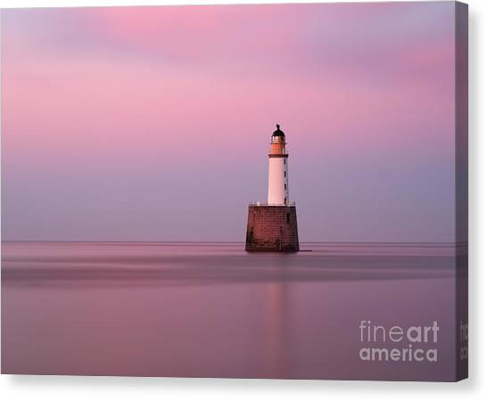 Rattray Head Lighthouse At Sunset - Pink Sunset Canvas Print