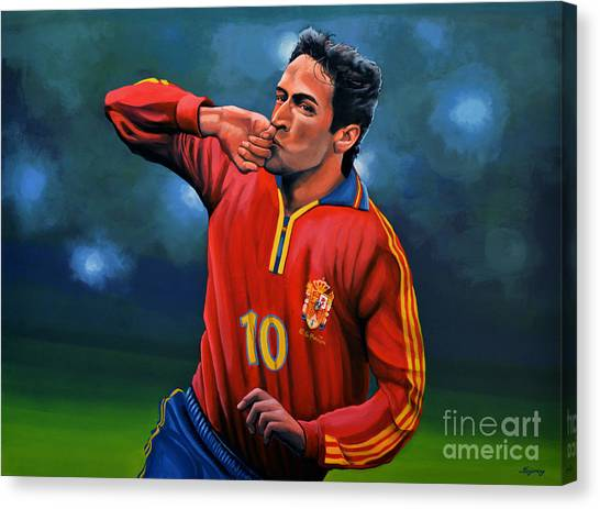 Lionel Messi Canvas Print - Raul Gonzalez Blanco by Paul Meijering