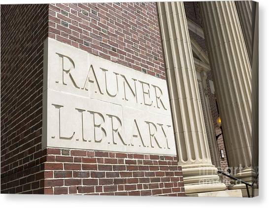 Dartmouth College Canvas Print - Rauner Library Dartmouth College by Edward Fielding