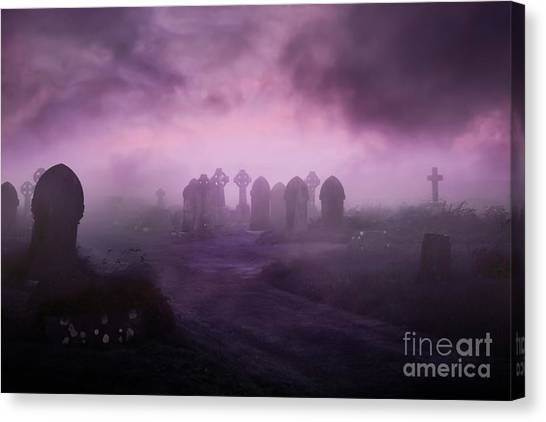 Rave In The Grave Canvas Print