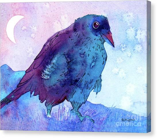 Raven At Dusk Canvas Print