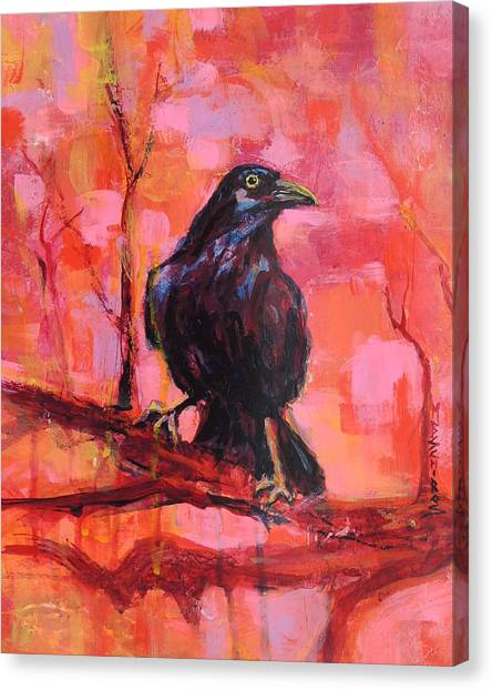 Raven Bright Canvas Print