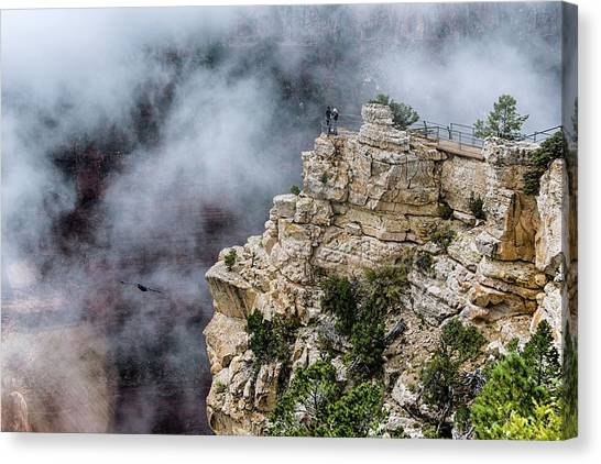 Raven Knows The Canyon Magic Canvas Print