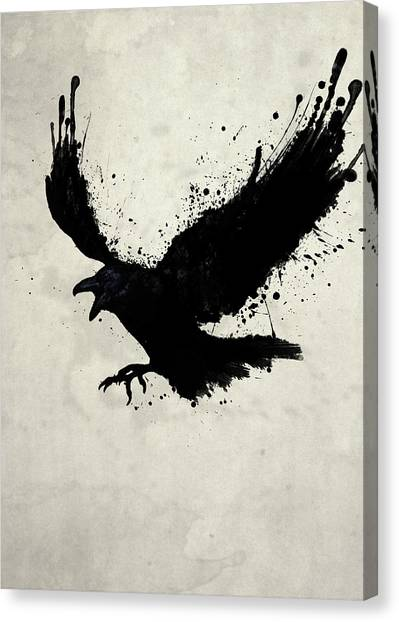 Illustration Canvas Print - Raven by Nicklas Gustafsson
