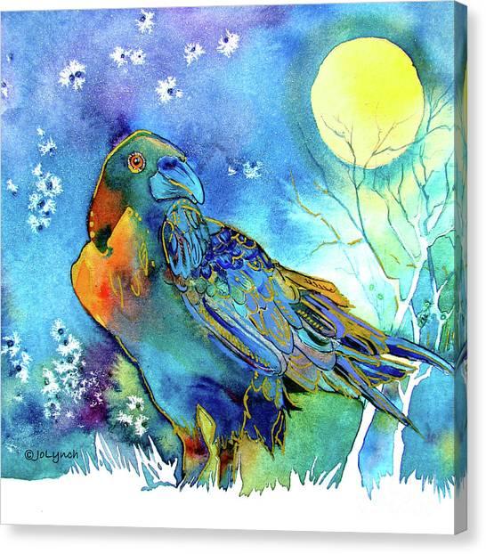 Raven Night Spirit Canvas Print