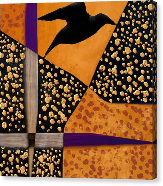 Light Paint Canvas Print - Raven Paints Light by Carol Leigh