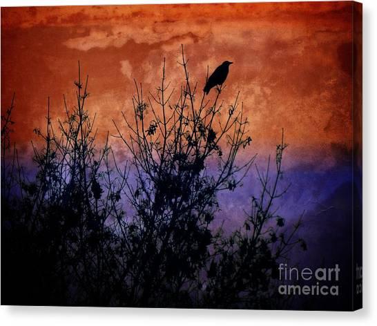 Raven Sentinel Canvas Print