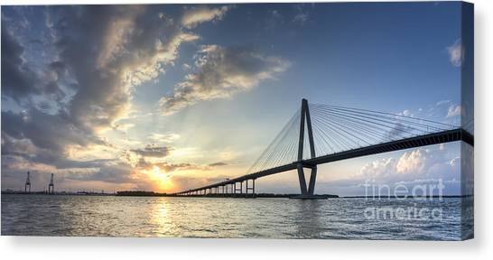 Ravenel Bridge Cooper River Sunset Canvas Print