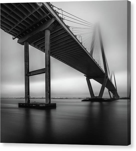 Ravenel Bridge November Fog Canvas Print