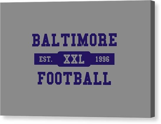 Baltimore Ravens Canvas Print - Ravens Retro Shirt by Joe Hamilton